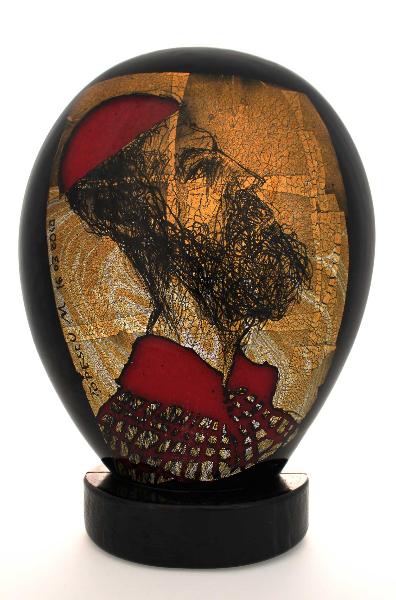 Portrait of a man in red bonnet